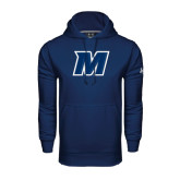 Under Armour Navy Performance Sweats Team Hoodie-M