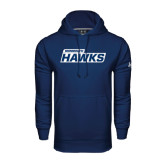 Under Armour Navy Performance Sweats Team Hoodie-Monmouth Hawks