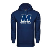 Under Armour Navy Performance Sweats Team Hood-Track and Field