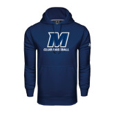 Under Armour Navy Performance Sweats Team Hood-Club Baseball
