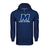 Under Armour Navy Performance Sweats Team Hood-Club Lacrosse