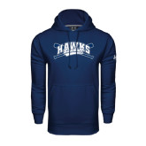 Under Armour Navy Performance Sweats Team Hood-Cross Bats Design
