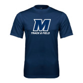 Performance Navy Tee-Track and Field