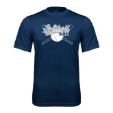 Syntrel Performance Navy Tee-Cross Bats Softball Design