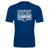 Syntrel Performance Navy Tee-2017 MAAC Regular Season Basketball Champions Stacked
