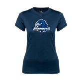 Ladies Syntrel Performance Navy Tee-Official Logo