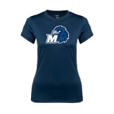 Ladies Syntrel Performance Navy Tee-Hawk with M