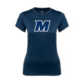 Ladies Syntrel Performance Navy Tee-M