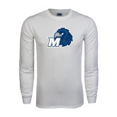 White Long Sleeve T Shirt-Hawk with M