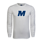 White Long Sleeve T Shirt-M