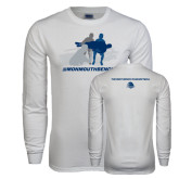 White Long Sleeve T Shirt-The Big Catch