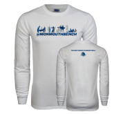 White Long Sleeve T Shirt-Monmouth Bench 4 Celebrations