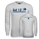 White Long Sleeve T Shirt-Monmouth Bench 3 Celebrations