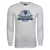White Long Sleeve T Shirt-2017 MAAC Regular Season Basketball Champions Banner