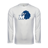 Syntrel Performance White Longsleeve Shirt-Hawk with M