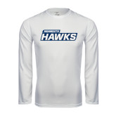 Syntrel Performance White Longsleeve Shirt-Monmouth Hawks