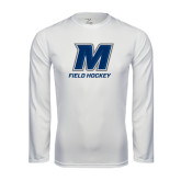 Syntrel Performance White Longsleeve Shirt-Field Hockey