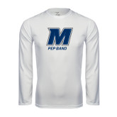 Syntrel Performance White Longsleeve Shirt-Pep Band