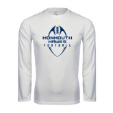 Syntrel Performance White Longsleeve Shirt-Tall Football Design
