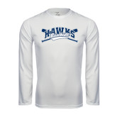 Syntrel Performance White Longsleeve Shirt-Cross Bats Design