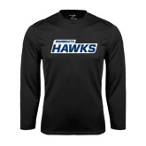 Syntrel Performance Black Longsleeve Shirt-Monmouth Hawks