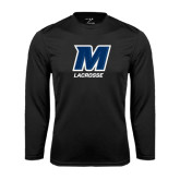 Syntrel Performance Black Longsleeve Shirt-Lacrosse