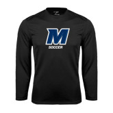 Syntrel Performance Black Longsleeve Shirt-Soccer