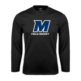 Syntrel Performance Black Longsleeve Shirt-Field Hockey