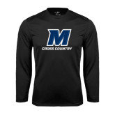 Syntrel Performance Black Longsleeve Shirt-Cross Country