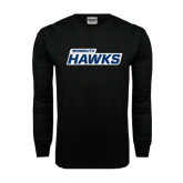 Black Long Sleeve TShirt-Monmouth Hawks