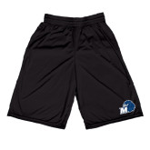 Midcourt Performance Black 9 Inch Game Short-Hawk with M