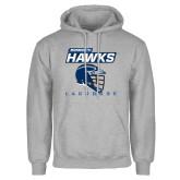 Grey Fleece Hoodie-Lacrosse Helmet Design