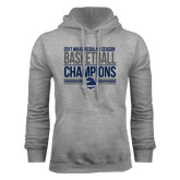 Grey Fleece Hood-2017 MAAC Regular Season Basketball Champions Stacked
