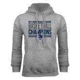 Grey Fleece Hoodie-2017 MAAC Regular Season Basketball Champions Stacked
