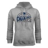 Grey Fleece Hoodie-2017 MAAC Regular Season Basketball Champs Half Ball