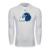 Under Armour White Long Sleeve Tech Tee-Hawk with M