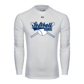 Under Armour White Long Sleeve Tech Tee-Cross Bats Softball Design