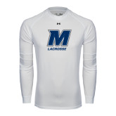 Under Armour White Long Sleeve Tech Tee-Lacrosse