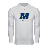 Under Armour White Long Sleeve Tech Tee-Golf