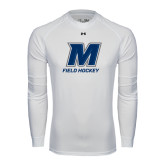 Under Armour White Long Sleeve Tech Tee-Field Hockey
