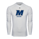 Under Armour White Long Sleeve Tech Tee-Sailing