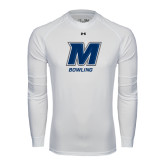 Under Armour White Long Sleeve Tech Tee-Bowling