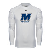 Under Armour White Long Sleeve Tech Tee-Pep Band