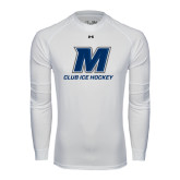 Under Armour White Long Sleeve Tech Tee-Club Ice Hockey