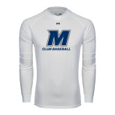 Under Armour White Long Sleeve Tech Tee-Club Baseball