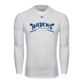 Under Armour White Long Sleeve Tech Tee-Cross Bats Design