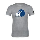 Adidas Sport Grey Logo T Shirt-Hawk with M