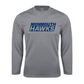 Syntrel Performance Steel Longsleeve Shirt-Monmouth Hawks Stacked