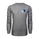 Grey Long Sleeve T Shirt-Hawk with M
