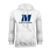 White Fleece Hoodie-Club Ice Hockey
